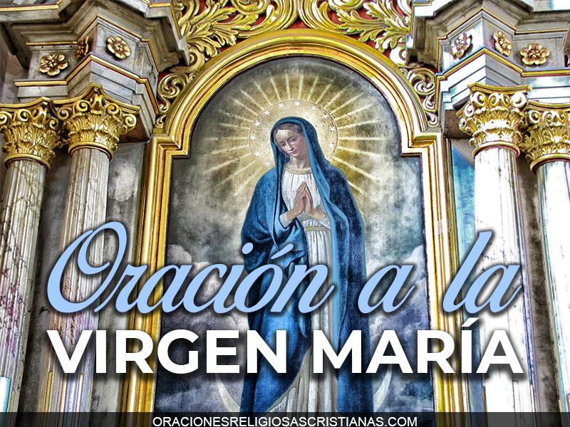 oraciones a la virgen maria