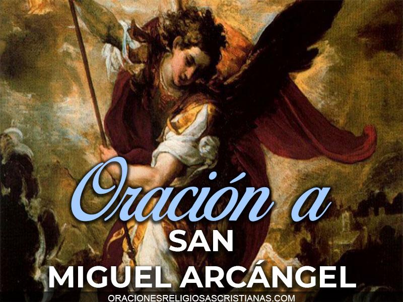 oracion san miguel arcangel